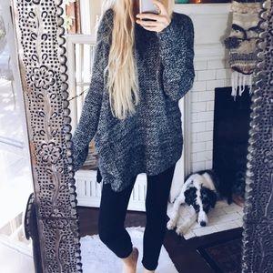 Sweaters - Marled Black & White Sweater